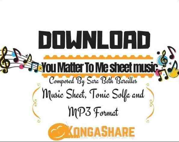 You Matter To Me sheet music for Piano in PDF & MP3..