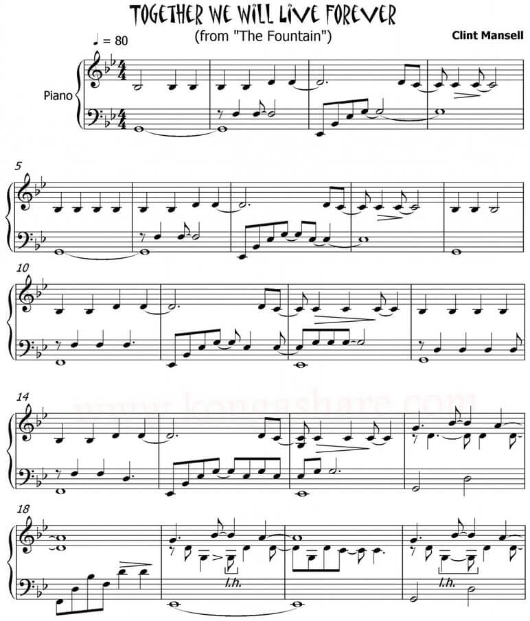 together we will live forever sheet music pdf midi_kongashare.com_md
