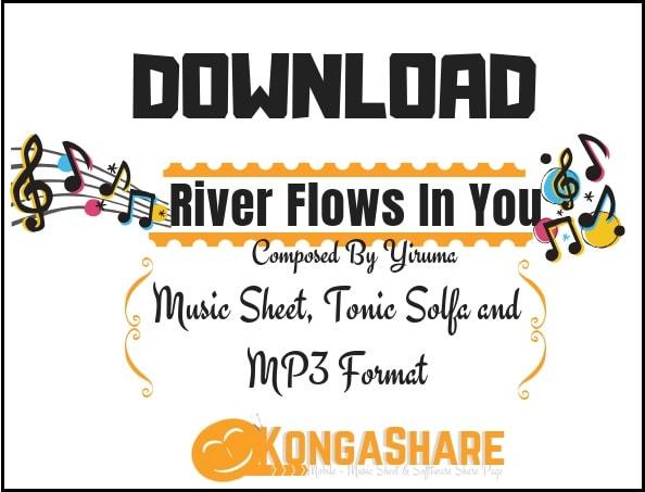 Yiruma – River Flows In You piano sheet music in PDF/MIDI