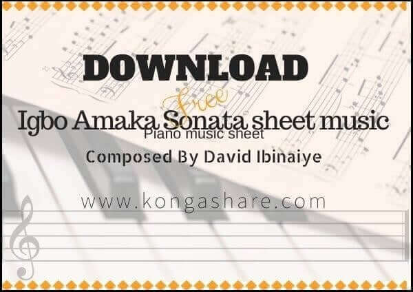 Download Igbo Amaka Sonata [Nigeria sheet music] in PDF/MP3