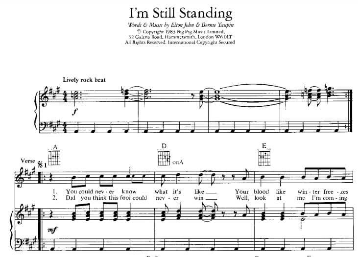 i'm still standing sheet music pdf_kongashare.com_mh