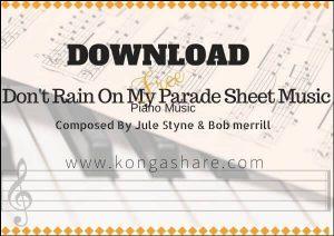 Don't Rain On My Parade sheet music with Lyrics in PDF/MP3