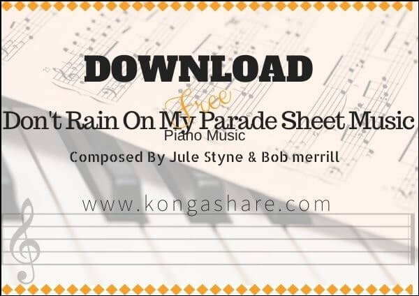 don't rain on my parade sheet music pdf mp3_kongashare.com_mo