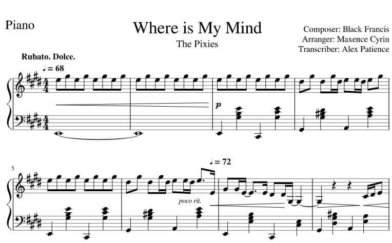 where is my mind piano sheet music pdf midi_kongashare.com_mo